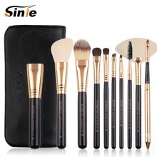 Sinle make up brushes 10pcs brush set professional Nature bristle brushes beauty essentials makeup brushes with bag top quality