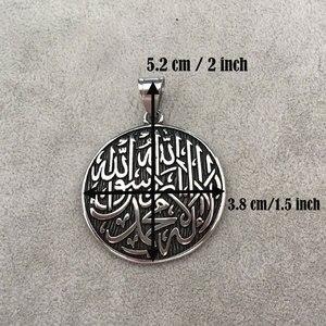 Image 2 - إسلام مسلم الله شهدا الفولاذ المقاوم للصدأ قلادة قلادة لا إله إلا الله محمد رسول الله