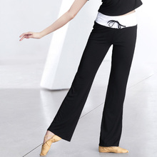 Yoga Flare Pants High Elastic Waist Draw String Sports Fitness Clothing Dance Trousers Running