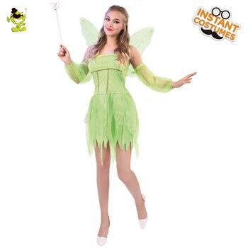 Платье-колокольчик Для Тинкера, костюм для взрослых, платье-колокольчик, юбка, корсет, крыло, Хэллоуин, карнавальный костюм