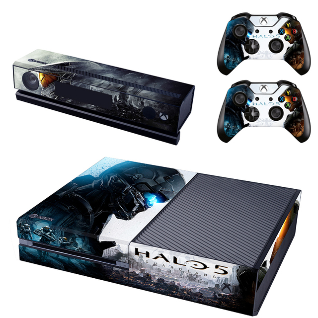 For Halo 5 Decal Skin For Microsoft XBOX ONE Stickers Kinect And  Controllers Cover Skins Sticker