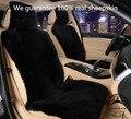 1 шт. Бесплатная Доставка Зима теплая Австралийской Овчины Автомобиля Сиденья for One Переднее Сиденье Меховой Авто Подушки Универсальный Автомобилей Мыса