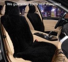 1 pc Livraison Gratuite Hiver chaud en peau de Mouton Australien Couverture De Siège De Voiture pour Un Front Fourrure Siège Auto Coussin De Voiture Universel De Voiture Cape