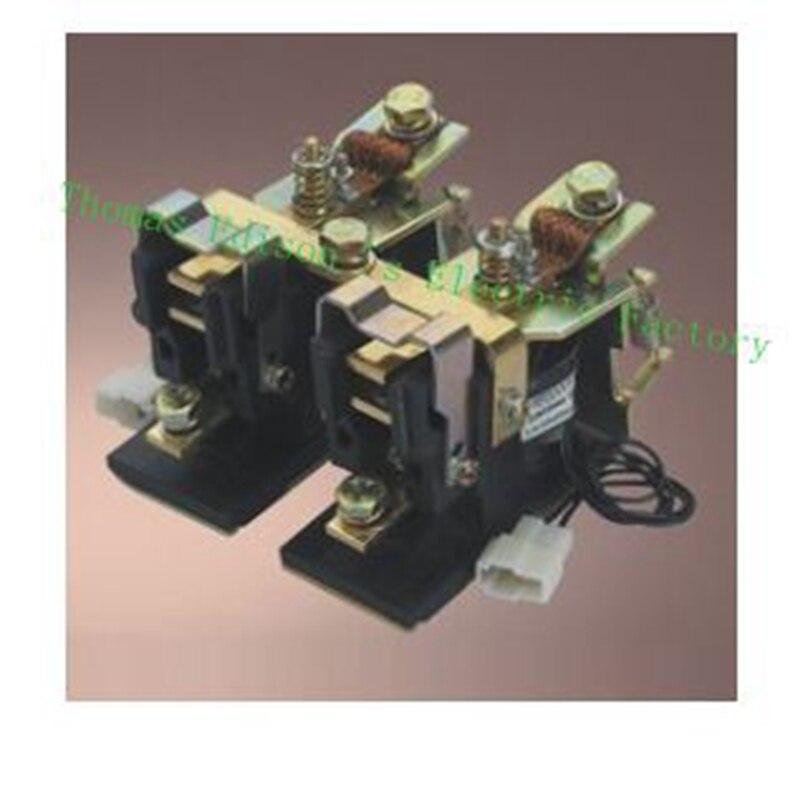 ZJN200-T 2NO+2NC 12V 24V 36V 48V 60V 72V 200A DC Contactor for motor forklift MS44-23 wehicle car ZJN200-2T dc reversing contactor dc182b 537t for forklift 48v 200a zapi b4dc21