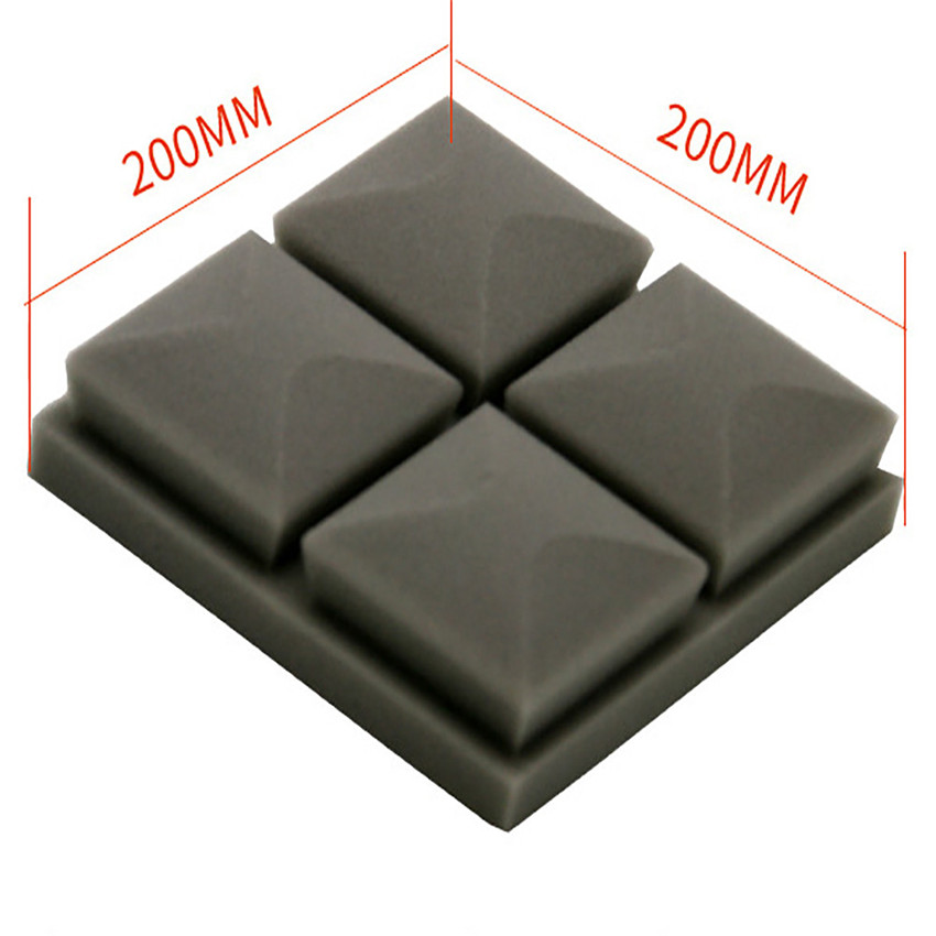 2018 HOT wall Acoustic Foam Panel Sound Stop Absorption Sponge Studio KTV good Soundproof foam effect #0224