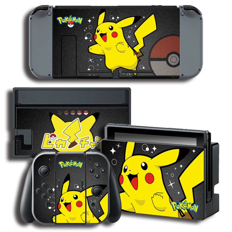 Us 738 The Legend Of Pokemon Pikachu Vinyl Skin Stickers For Nintend Switch Console Protector Cover Decal Vinyl Skin For Skins Sticker In Stickers
