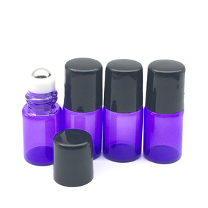5pcs 2ml Essential Oil Roll On Glass Bottle Empty Colorful 2cc Refillable Roller Perfume Sample Container