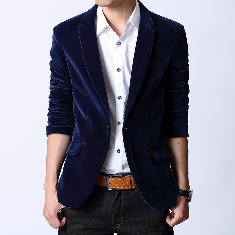 Compare Prices on Navy Blue Velvet Blazers- Online Shopping/Buy ...