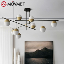цены на Modern Glass Balls Pendant Lamp Light Luxury Branch Chandelier Magic Bean LED Lighting Fixture Living Room Home Decoration  в интернет-магазинах