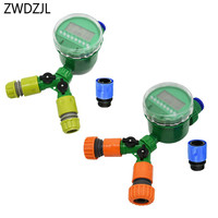 1/2 3/4 garden hose splitter Automatic irrigation controller Y 2 way water tap connector 16mm 20mm hose adapter 1set