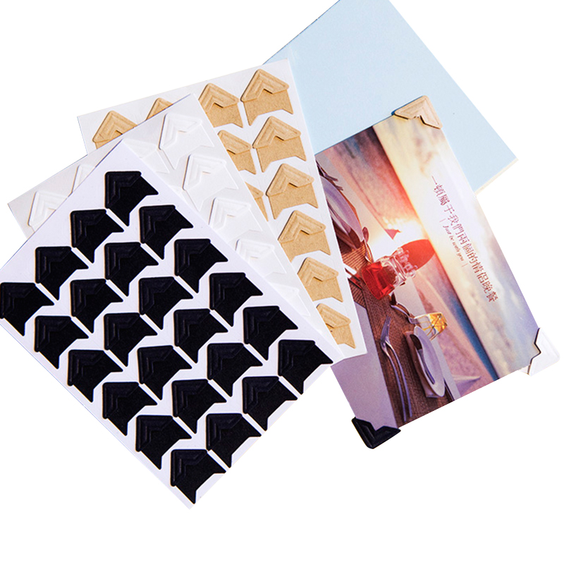 DIY Kraft Paper Vintage Corner Stickers 120 pcs/lot (5 sheets)  For Fixed Photo Birthday Albums Frame Decoration Scrapbooking