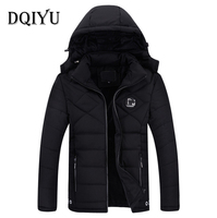 2018 Winter Jacket Men Cotton Padded Coat Newest Design Europe And America Casual Hooded Thicken Men