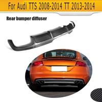 Углеродное волокно авто задний бампер диффузор губы для Audi TTS бампер 2008 2014 TT 2013 2014
