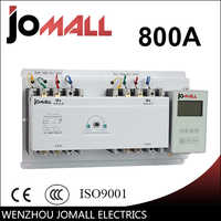 800A 3 poli 3 phase automatic transfer switch ats con L'inglese controller