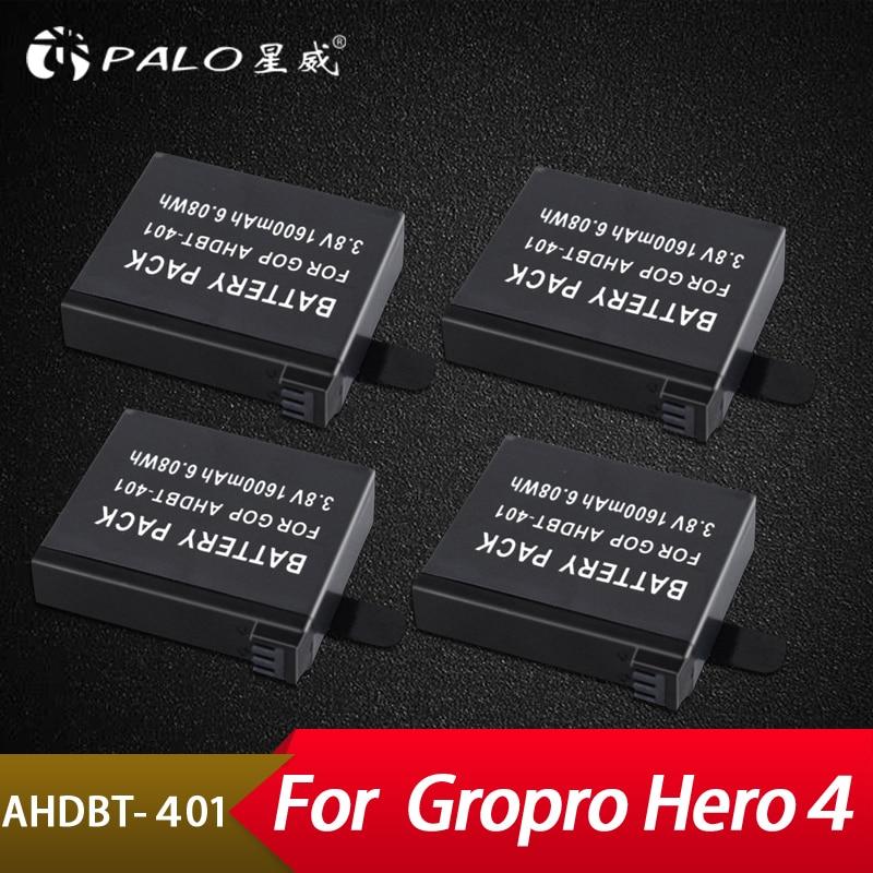Streng Palo 4 Pcs Gehen Pro 4 Batterie 3,8 V Gopro Hero 4 Batterien Ahdbt-401 Gehen Pro Hero4 Ahdbt401 Für Gopro Hero 4 Action Kamera Batterie Sparen Sie 50-70% Stromquelle Digital Batterien