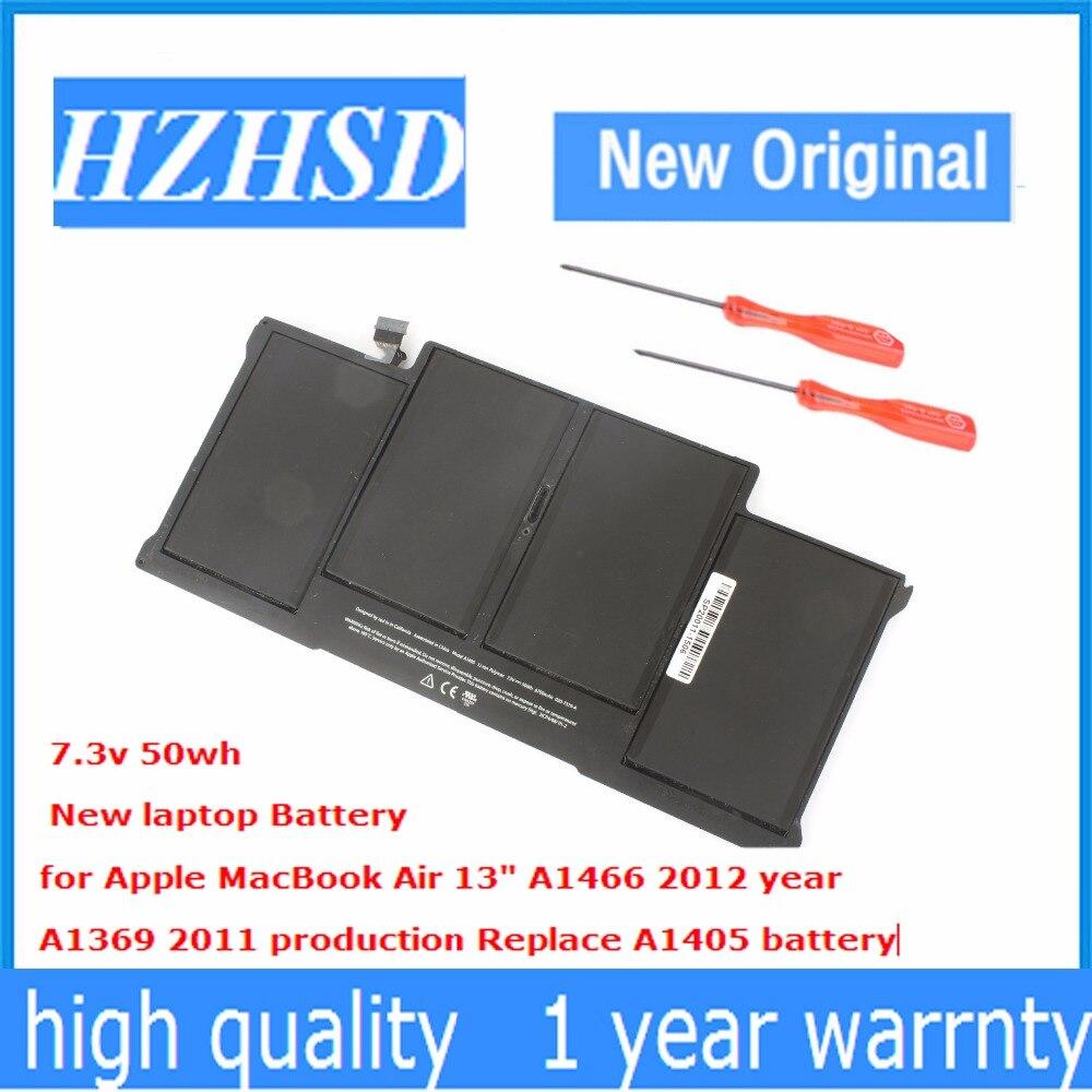 7.3v 50wh New Original A1405 laptop <font><b>Battery</b></font> for Apple MacBook Air 13&#8243; <font><b>A1466</b></font> 2012 year A1369 2011 year MC965 MC966 MC965