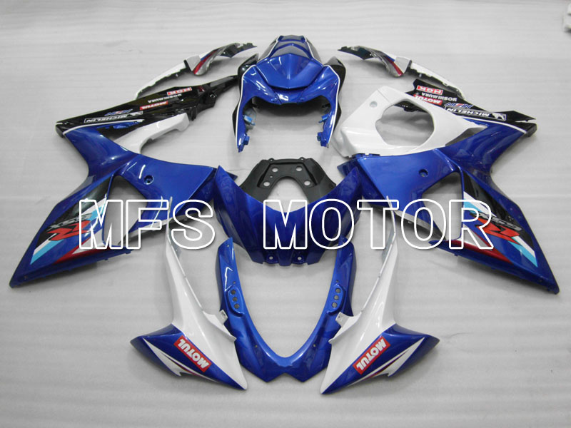 For Suzuki GSXR 1000 K9 2009 2010 2011 2012 2013 Bodywork Injection ABS Fairing Kits GSXR1000 K9 09-13 - Others - Blue/White injection mold fairing kit for suzuki gsxr1000 09 10 gsx r gsxr 1000 k9 2009 2010 fashion white fairings set 7gifts sz07