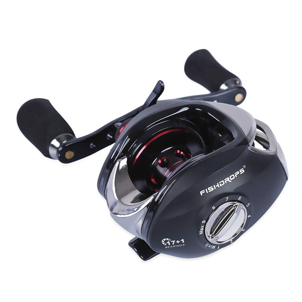 17 + 1BB pistolet forme gauche droite pêche Baitcasting bobine rapport de vitesse 7:1 réglable coulée bobine basse plein air Sport pêche