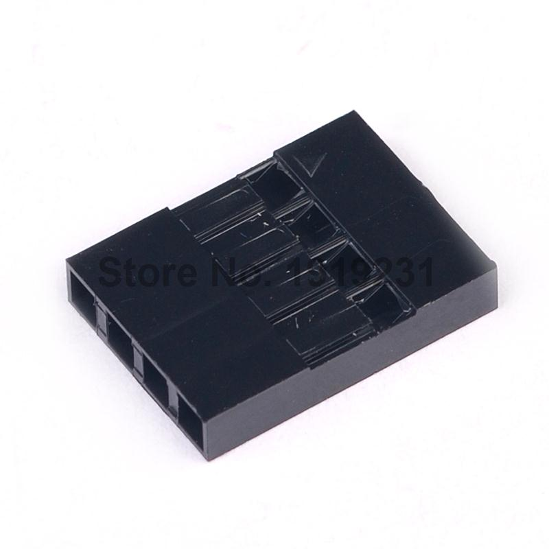 100PCS 2.54mm 4Pin 4P Dupont Connector Dupont Plastic Shell Plug Dupont Jumper Wire Cable Pin Header 100pcs dupont head 2 54mm 4p 1x4p dupont plastic shell pin head connector jumper wire cable housing plug female