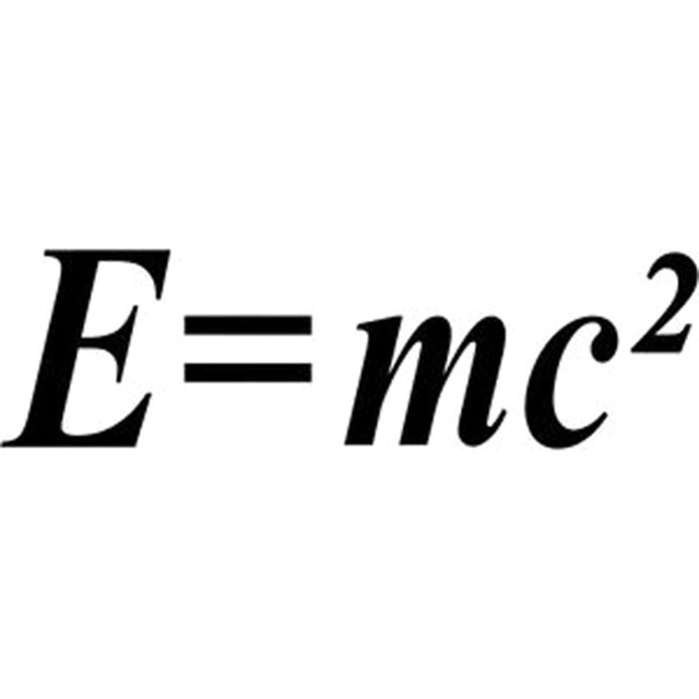 15.5X4.4CM E=MC2 Love math Originality Vinyl Decal Car
