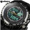 Genuine INFANTRY Luxury Brand Analog LED Watches Men Rubber Quartz Clock Men S Tactical Chronograph Sports
