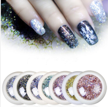 3ml Acrylic Nail Flake 8 Style Holographic Mail Flakes Glitter Sliver/Rose Gold/Blue Decoration For Manicure Art#