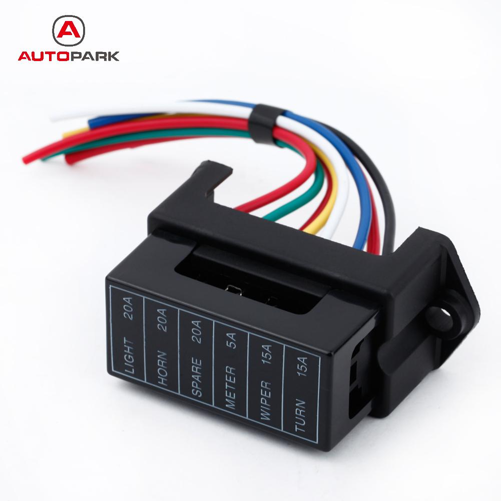 online get cheap car fuse box wiring aliexpress com alibaba group 6 way dc32v circuit car trailer auto blade fuse box block holder atc ato 2 input 6 ouput wire