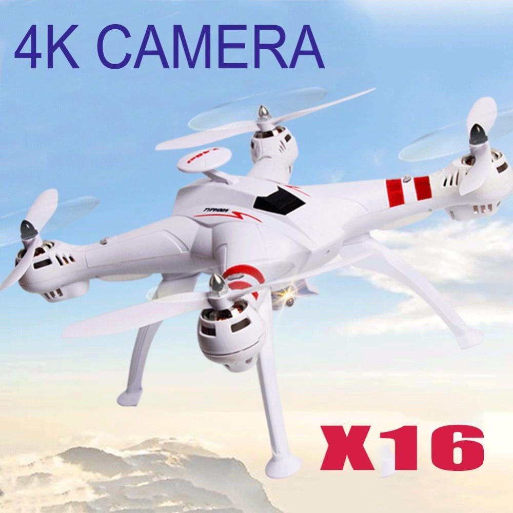 Баянг x16 Вертолет игрушка Drone бесщеточный Двигатель 2.4 ГГц 4ch 6 оси FPV-системы Quadcopter Дрон RTF RC GPS Drone С Камера HD 4 К 1080 P