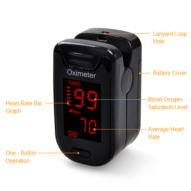 ELERA Oximetro De Dedo Pulse Oximeter Blood Saturometro Monitor SPO2 PR Oximetro De Pulso Portable Pulsioximetro