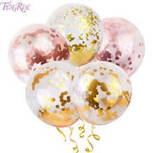 FENGRISE 1pc Round Foil Confetti Balloons Clear Latex Ballon Happy Birthday Balloons Wedding Decoration Event Party Supplies 12inch transparent confetti balloons happy birthday ballon event party supplies colors latex clear balloon wedding decoration