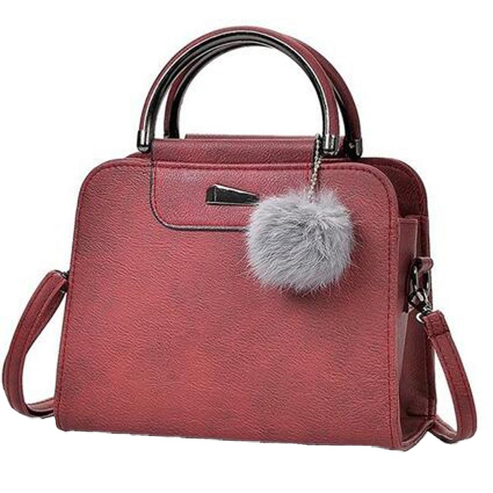 &35 Women Hair Ball Pendant Hand Bags Women Elegant Messenger Crossbody Bags Fashion Korean Style Crossbody Bags For Women