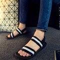 Бесплатная Доставка Новый 2016 Горячей Продажи Вьетнам Обувь Летние Мужчины Сандалии Открытым Носком Мода Квартиры Пятки Тапочки Черный, коричневый Плюс Размер