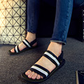 Free Shipping New 2016 Hot Sale Vietnam Shoes Summer Men Sandals Open Toe Fashion Flats Heel Slippers Black, Brown Plus Size