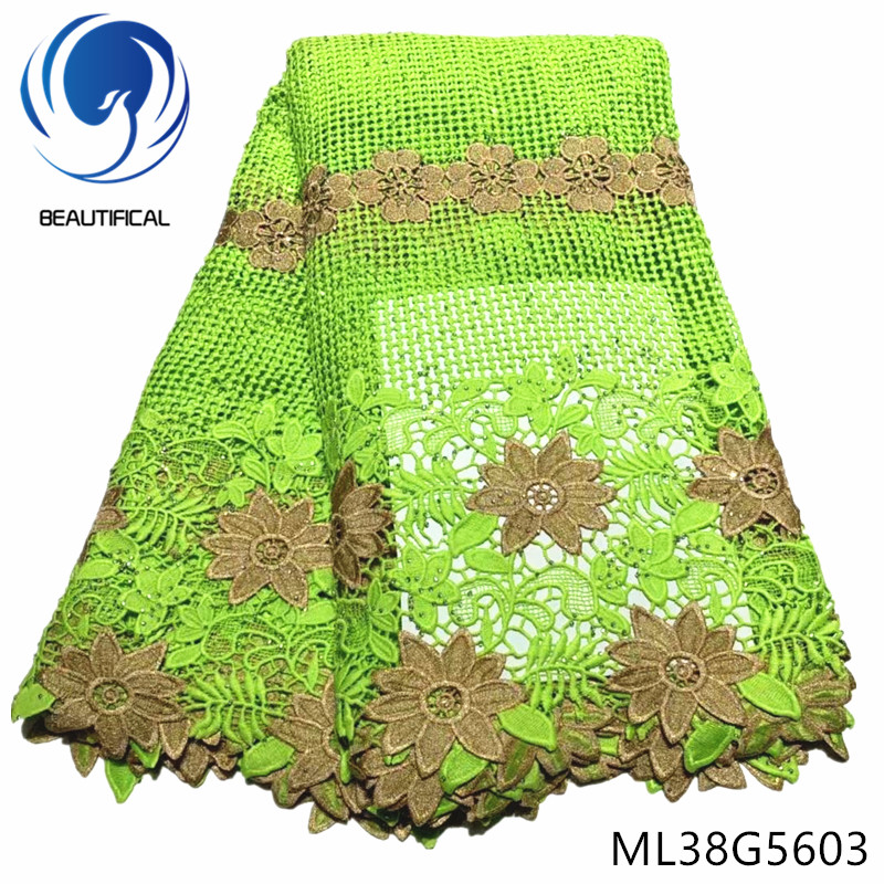BEAUTIFICAL african lace fabrics Latest style chemical lace embroidery with stones for dress 5yards guipure lace fabric ML38G56BEAUTIFICAL african lace fabrics Latest style chemical lace embroidery with stones for dress 5yards guipure lace fabric ML38G56