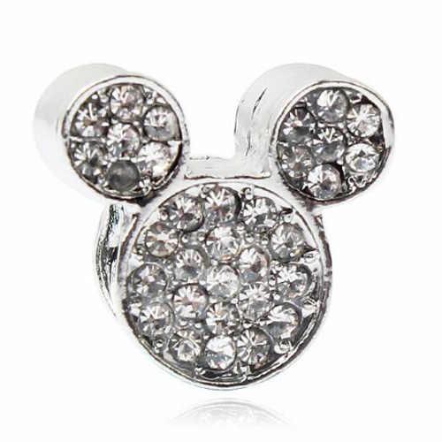 Btuamb lujoso cristal amor corazón estrella árbol Bowknot flor Mickey encanto cuentas ajuste Pandora pulseras mujer moda DIY joyería