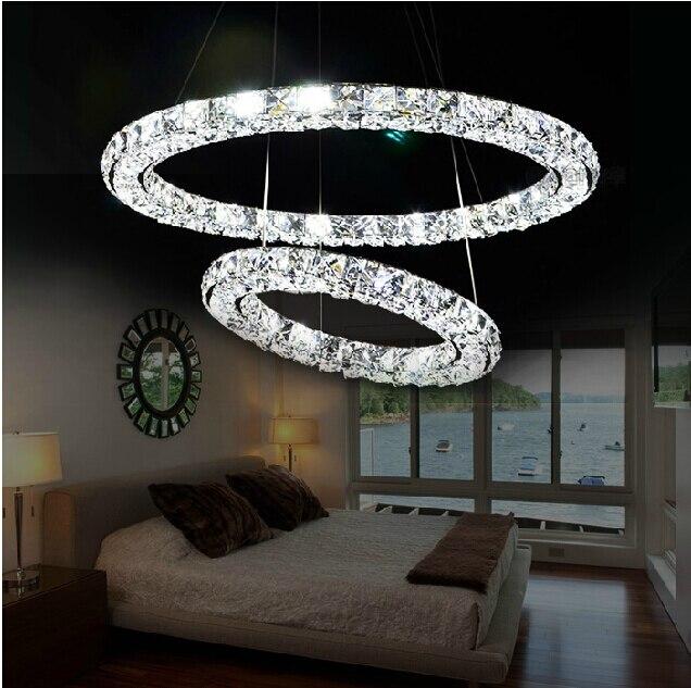Bedroom Circular Led Crystal Chandelier