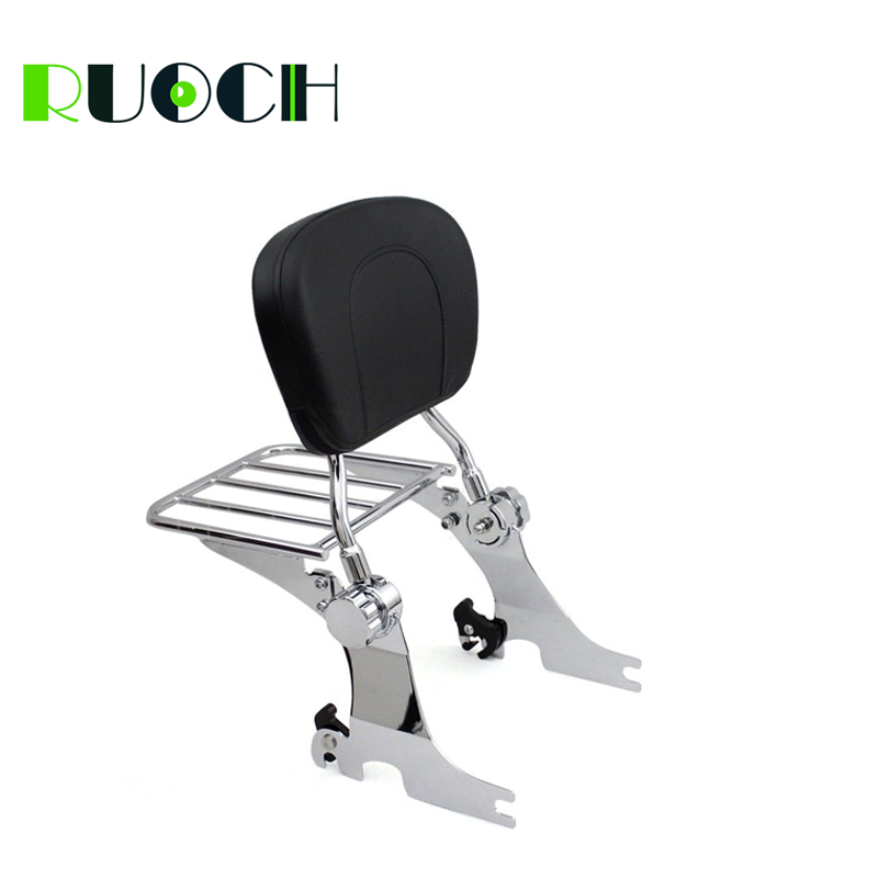 RUOCH Adjustable Sissy Bar Backrest for Harley Davidson Sportster Iron 883 1200 XL883 XL1200 2004-2019  (2)