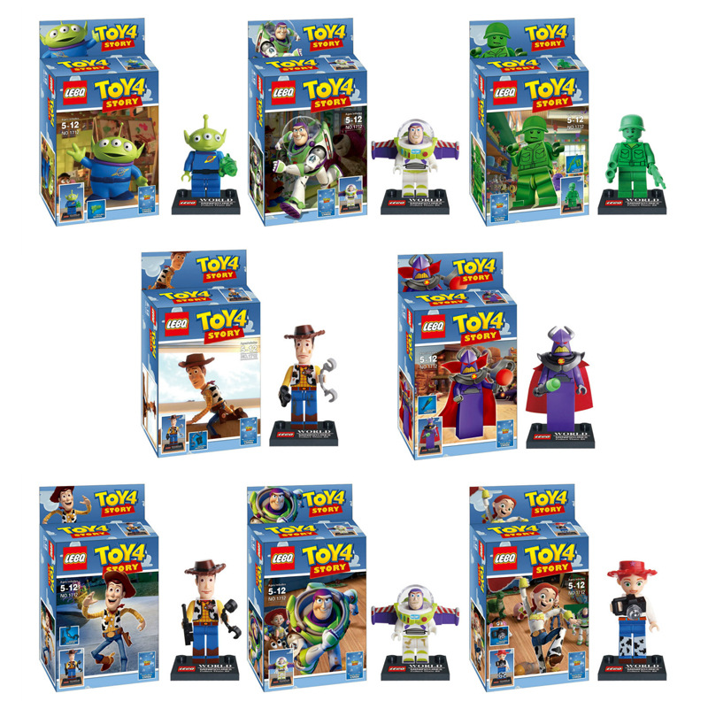 Toy Story 4 Compatible Legoing Original Buzzed Blocks Set Lightyear Space Mech Building Bricks Movie 2 Toys For Children