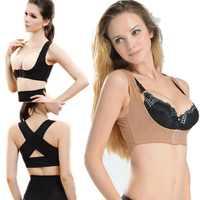 Female Correct Back Posture Corrector Chest Support Back Straightener Shoulder Brace Belt Nude Black Color