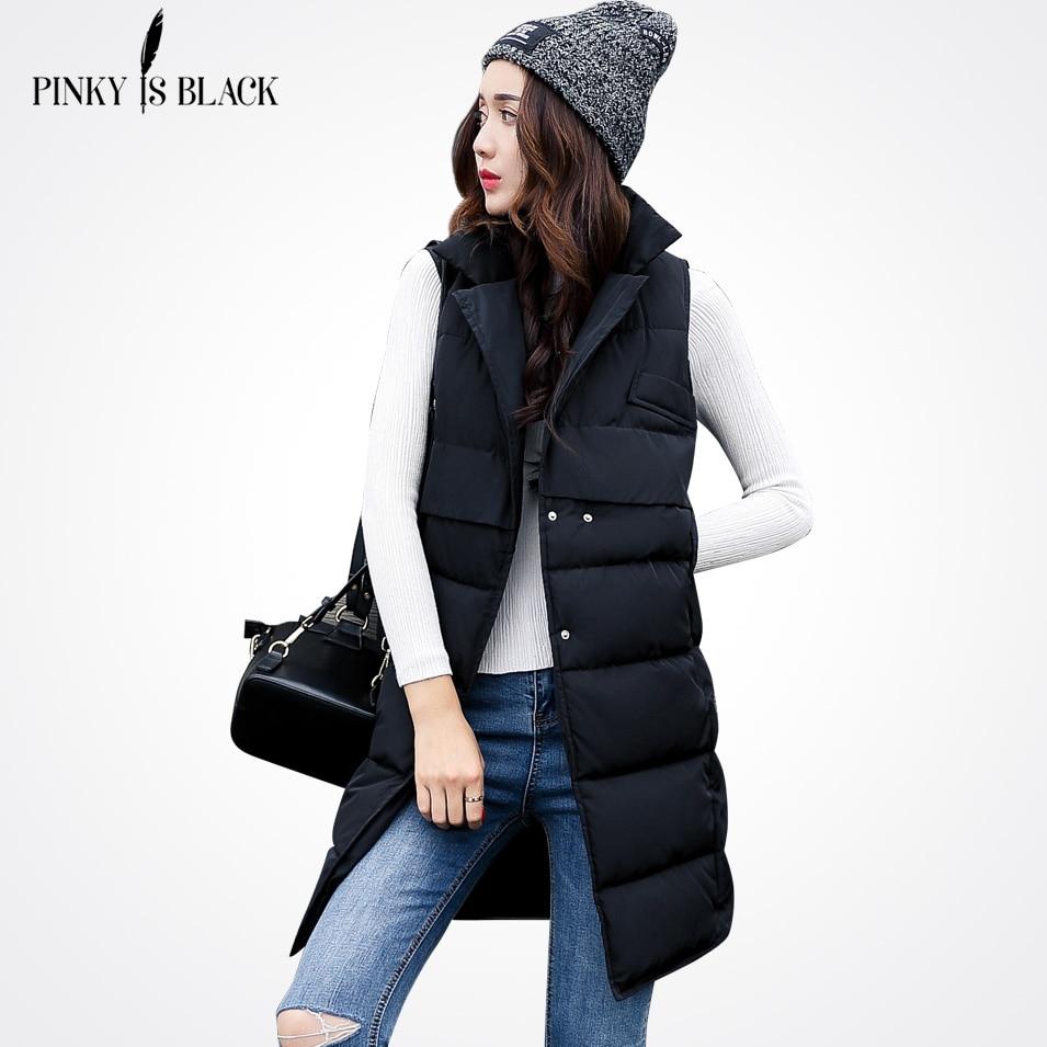 Pinky Is Black 2017 Women Winter Vest Waistcoat New Women ...