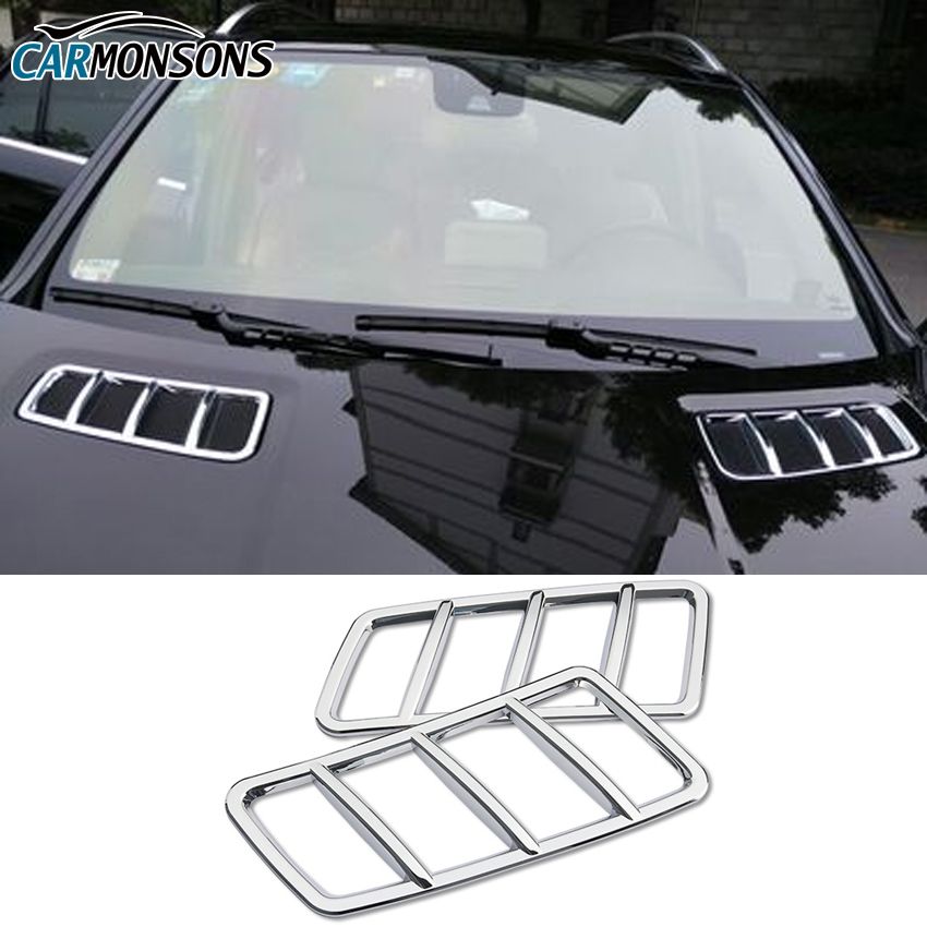 Carmonsons ABS Chrome Front Hood Air Vent Outlet Sticker Trim Cover for Mercedes Benz GL GLE GLS ML Class X166 W166 Car Styling цены