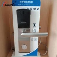 Cerradura electrónica de la manija de la puerta de la entrada sin llave del Hotel con el lector de tarjeta Cerradura eléctrica     -