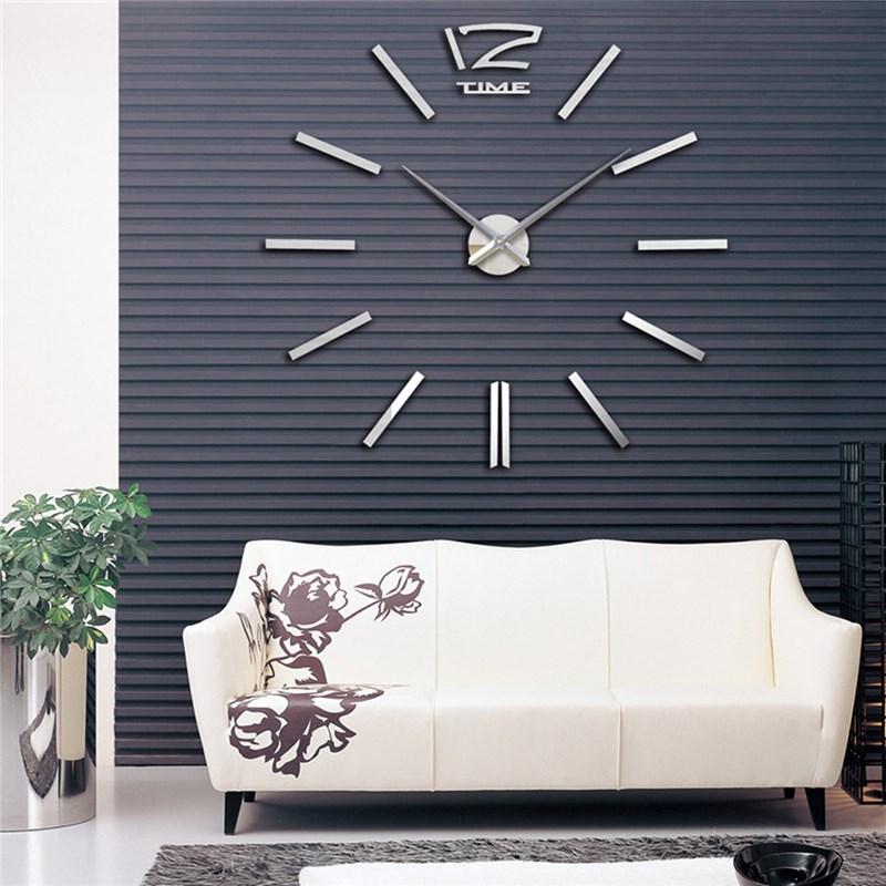 charminer quarz uhren mode uhren 3d echt groe wanduhr rushed spiegel sticker diy wohnzimmer decor moderne - Wanduhr Design Wohnzimmer