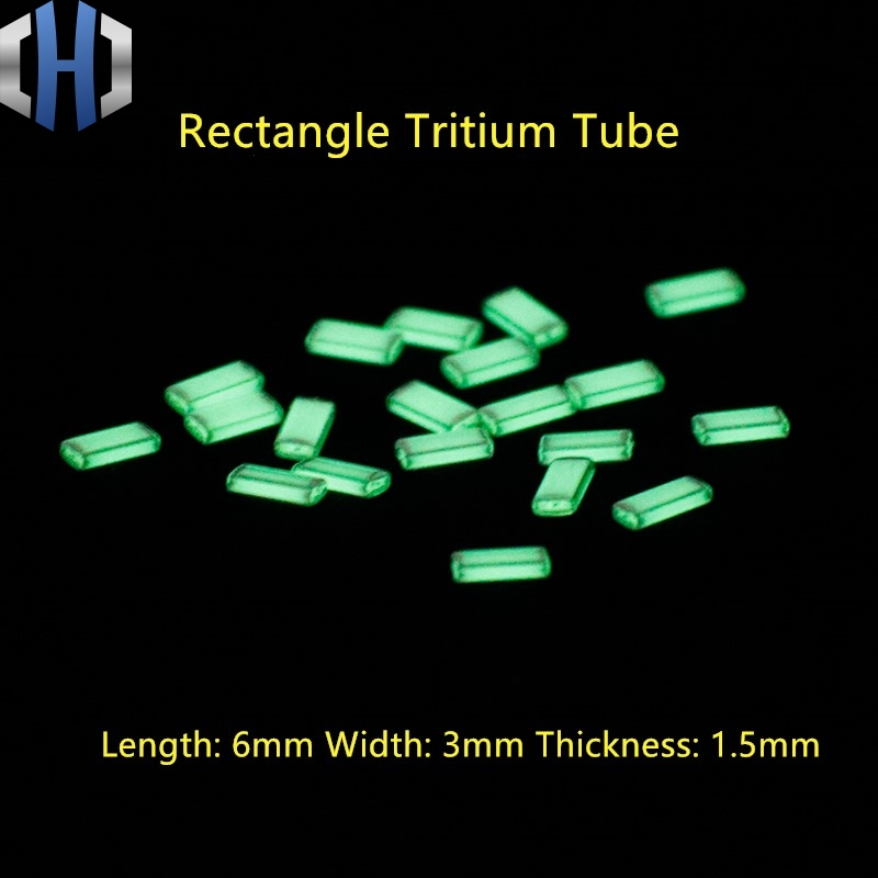 Self-illuminating Rectangular Tritium Gas Tube Rectangular EDC Fluorescent Tube DIY Self Luminous 10 Years