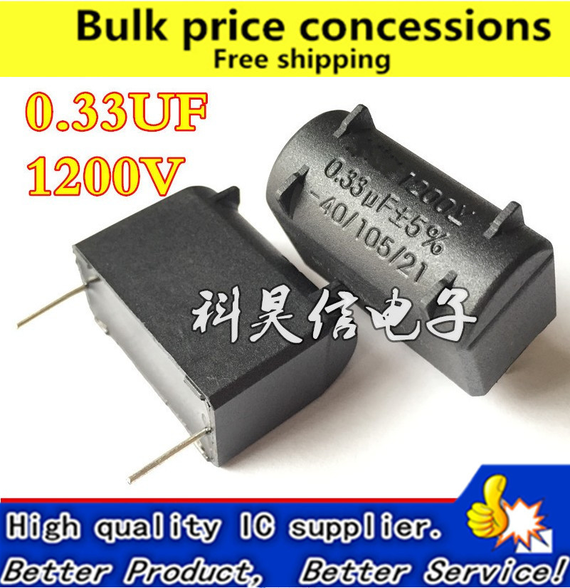 US $30 8 |50pcs 1200V 0 33UF 0 3UF MKP Induction cooker capacitor  capacitance Repair Accessory high voltage capacitor free shipping#LS347-in