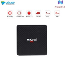 Vmade Smart Mini TV BOX Android 7.0 OS Octa Core H.265/HEVC 4k Allwinner H3 Quad Core 1g/8g Support 1.0 ghz Wifi Set- Top Box стоимость
