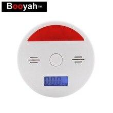 Booyah умный дом Высокочувствительный угарного газа Сенсор безопасности Предупреждение окиси сигнализация предупреждающая о возможности отравления детектор дыма обнаружения утечек Сенсор