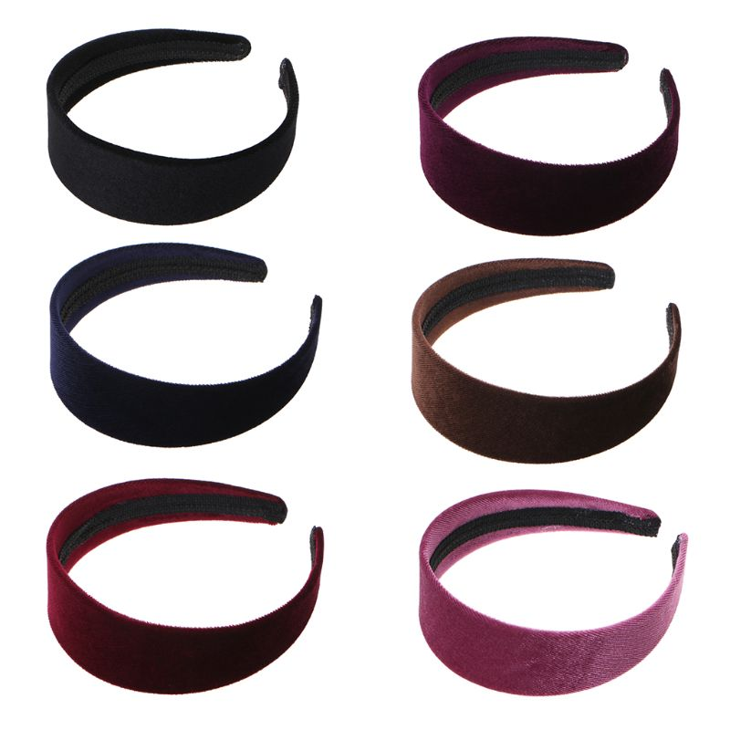 1 Pc Women Lady Fashion Velvet Wide Hair Band Headband Simple Black Random Color