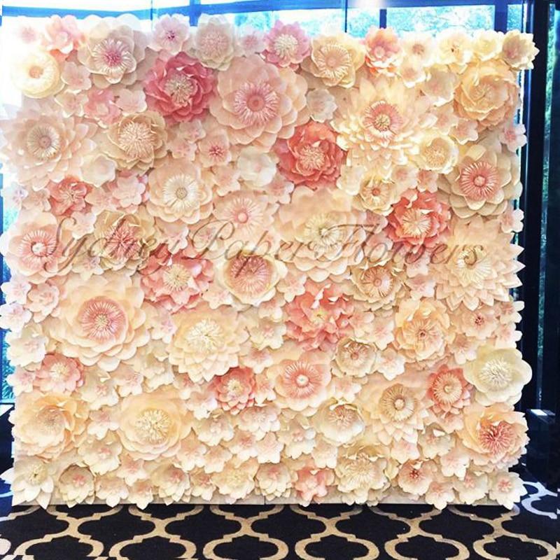 96 piezas de tamaños mezclados y estilos de cartón flores de papel gigante para escaparate fondos de boda accesorios flores artificiales para decoración o 6m2