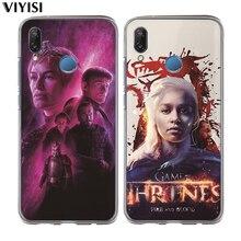 For Huawei Nova 3i 2 Plus Y5 2018 Y6 II Pro Y7 P Smart P8 P9 Lite Etui Phone Case Funda Daenerys Dragon Jon Game Thrones Coque